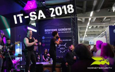 Hornetsecurity rocked the it-sa 2018