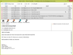 Ansicht Outlook Aeternum-Zugriff