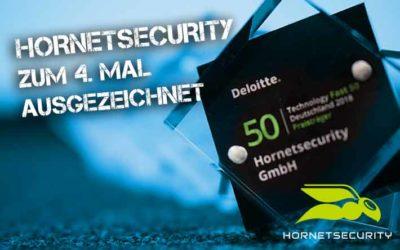 """""""Technology Fast 50 Award 2018"""" – Hornetsecurity zum vierten Mal ausgezeichnet"""