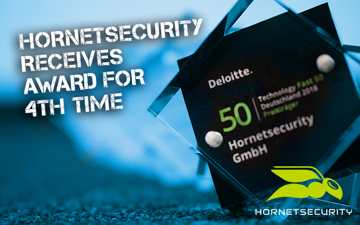 """Technology Fast 50 Award 2018"" – Hornetsecurity honoured for the fourth time"