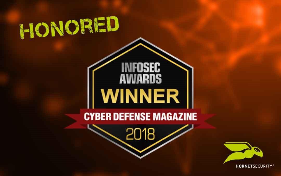 "Hornetsecurity earns prestigious InfoSec ""Cutting Edge Award"" from Cyber Defense Magazine"