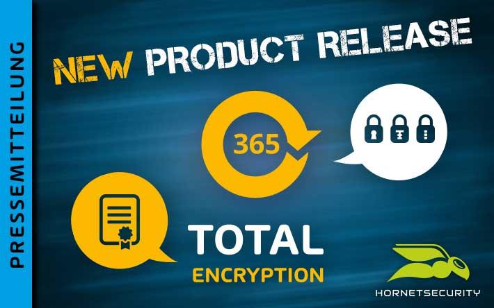Schutz vor Ausspähung und Datendiebstahl für Office 365 – Hornetsecurity veröffentlicht 365 Total Encryption
