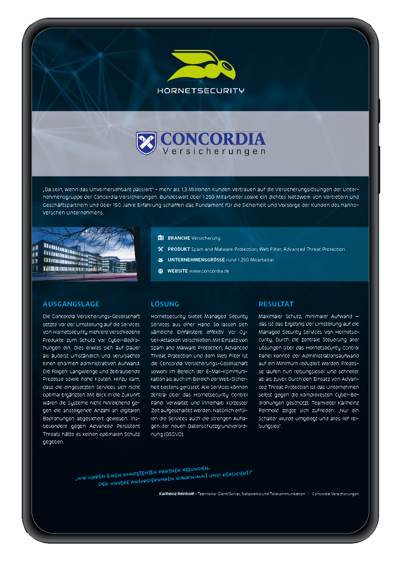 Mockup Case Study Concordia