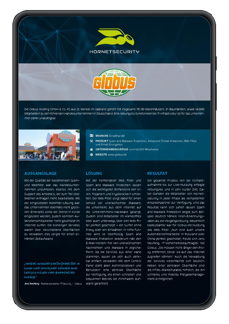 Mockup Case Study Globus