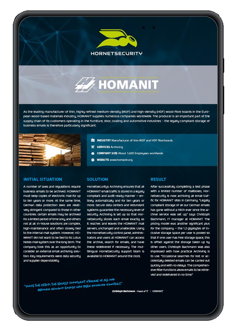 Case Study Homanit