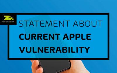 Hornetsecurity analyseert het beveiligingslek in de standaard e-mail app van Apple