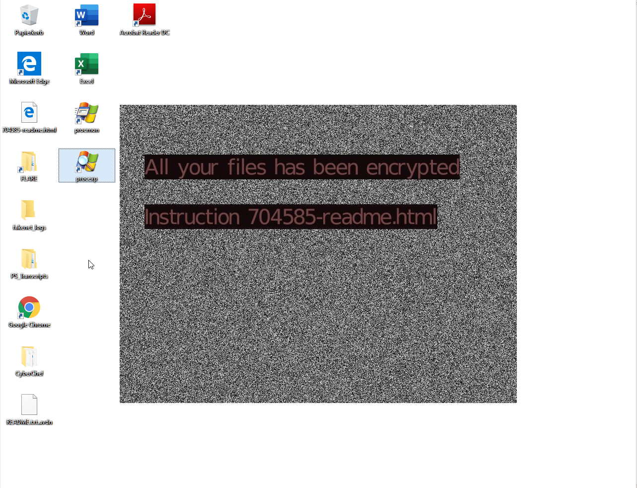 Avaddon ransomware desktop background