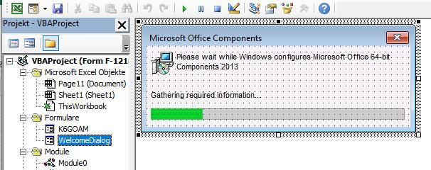 TA505 XLS VBA-Code für gefälschtes Fenster Microsoft Office Components
