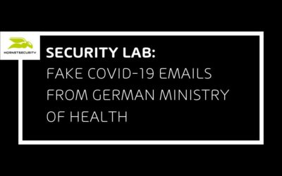 Fake COVID-19 emails from fake German Federal Ministry of Health