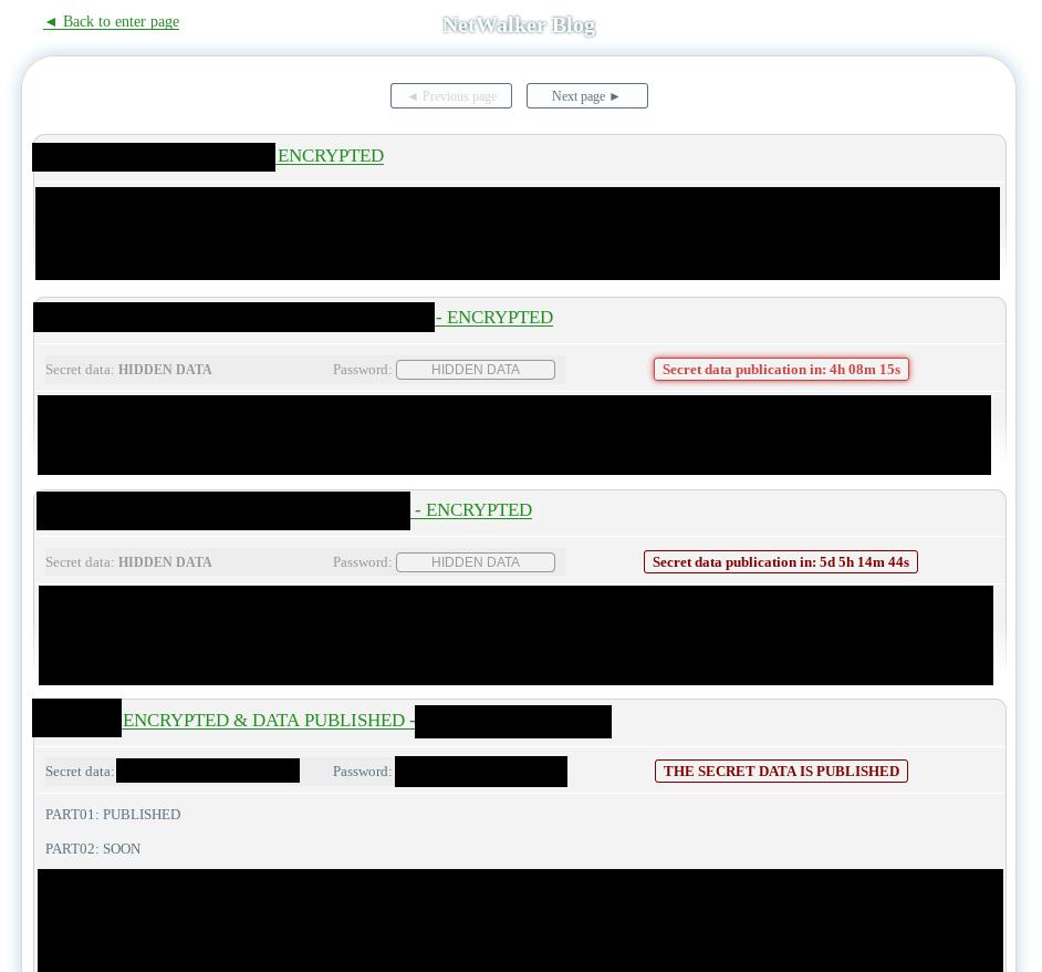 NetWalker leak site