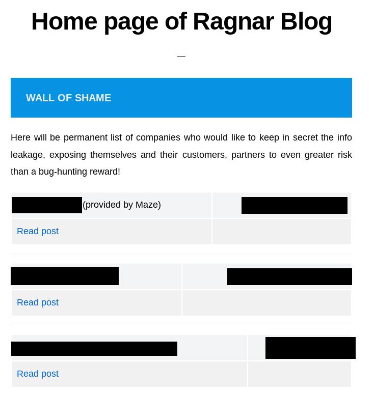 RagnarLocker leak site