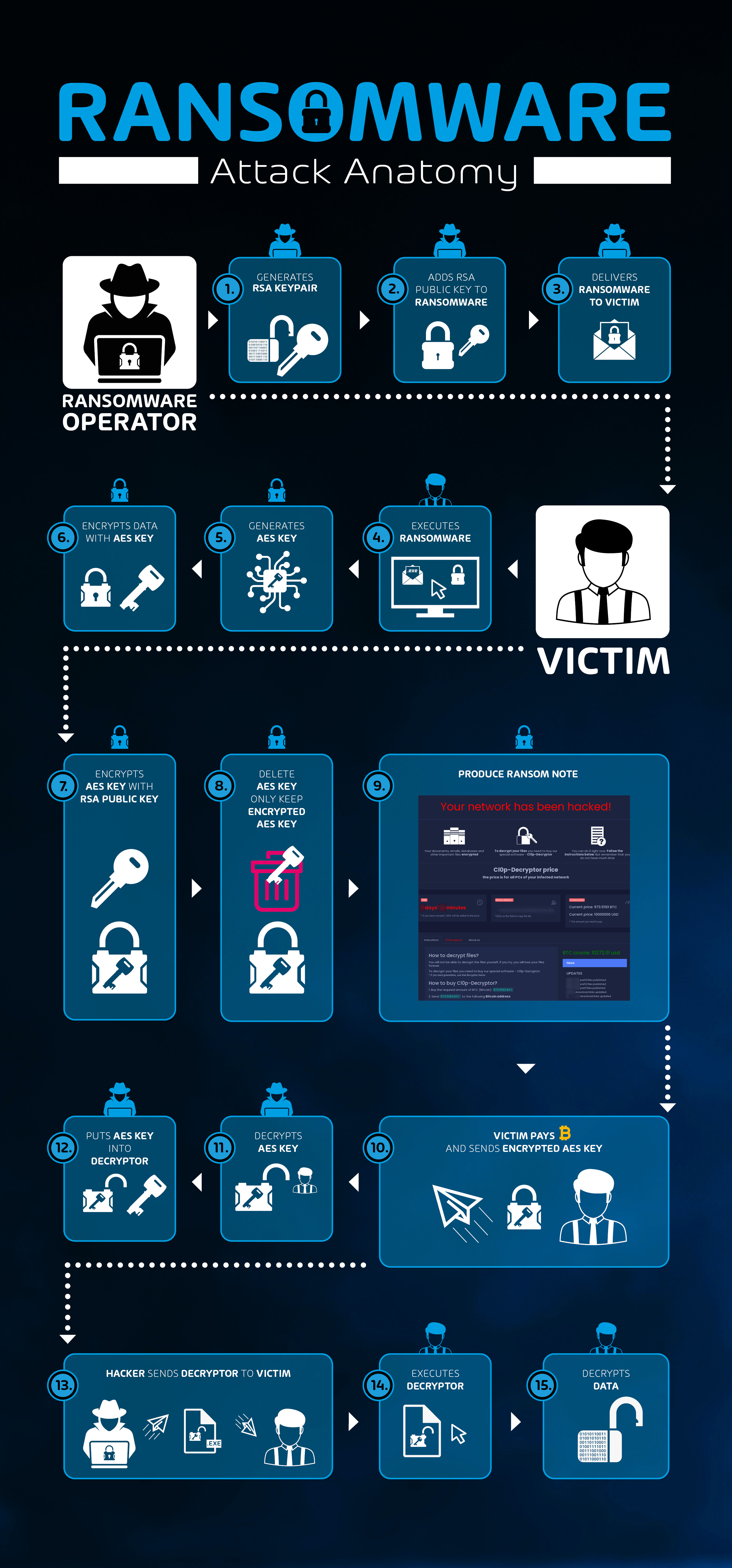 Ransomware interaction flow