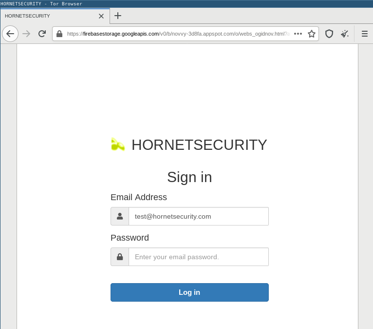Phishing kit displaying favicon for phished email address' domain name
