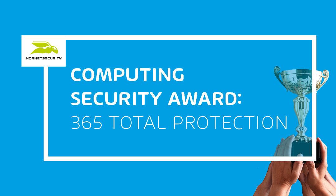 """365 Total Protection ha sido galardonado con el premio """"Computing Security 2020"""""""
