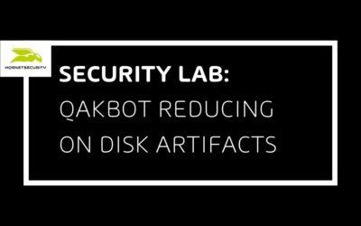 QakBot reducing its on disk artifacts