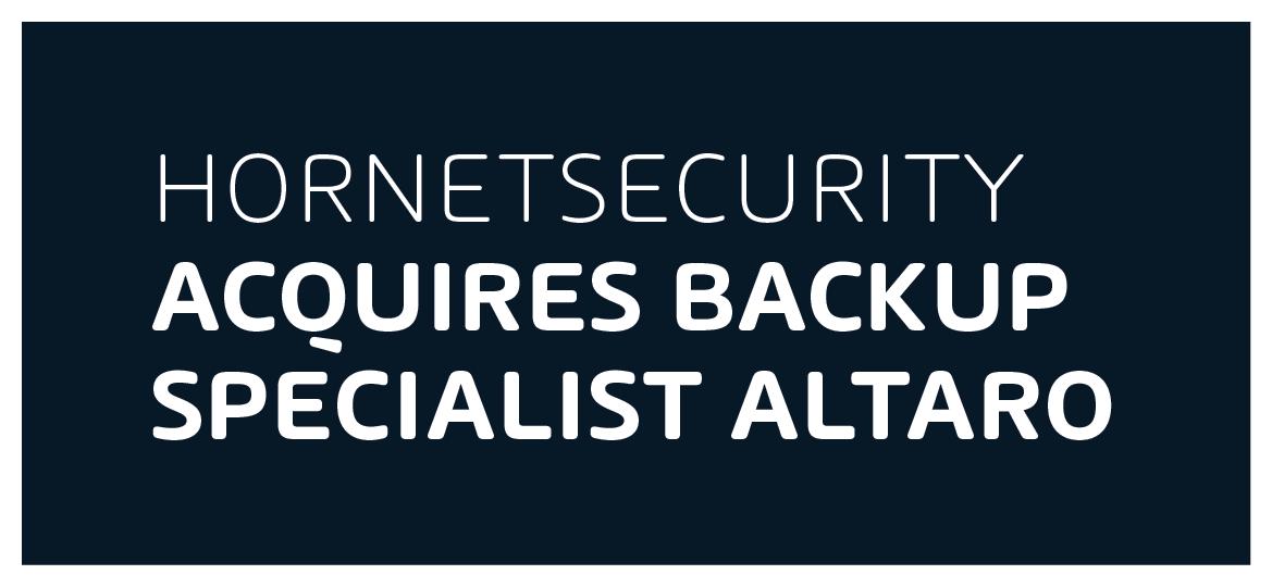 Hornetsecurity aquires backup specialist Altaro