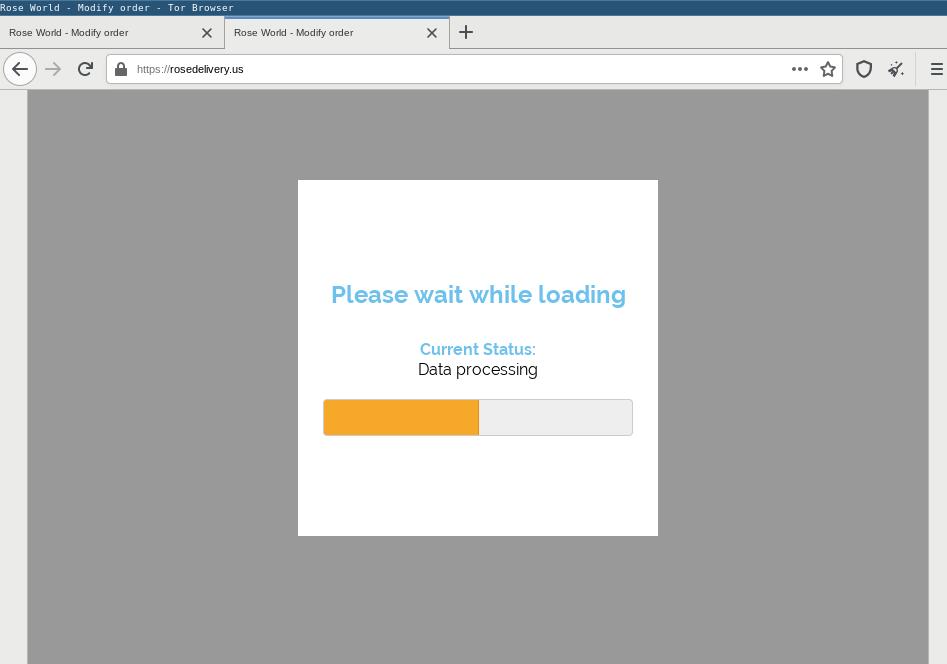 BazarLoader fake loading page