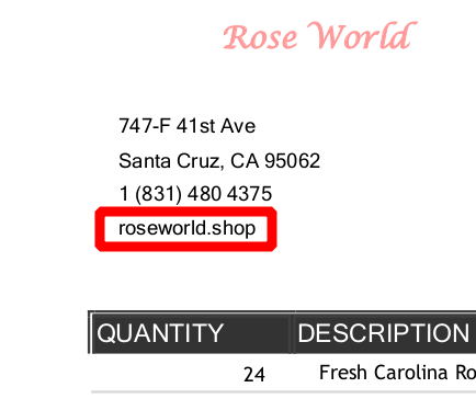 BazarLoader flower shop URL in PDF