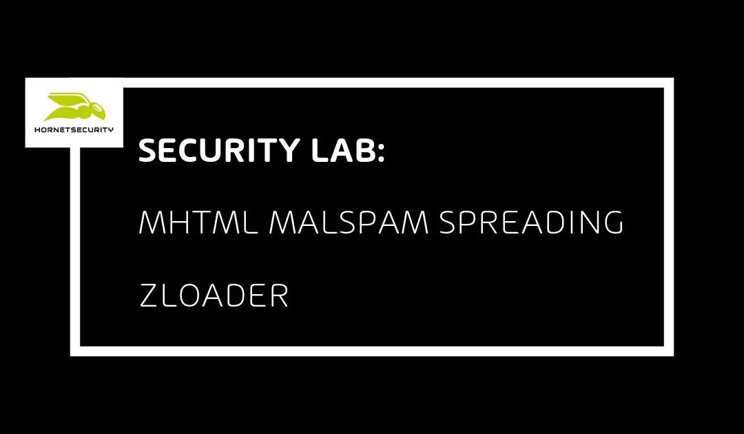 Zloader email campaign using MHTML to download and decrypt XLS