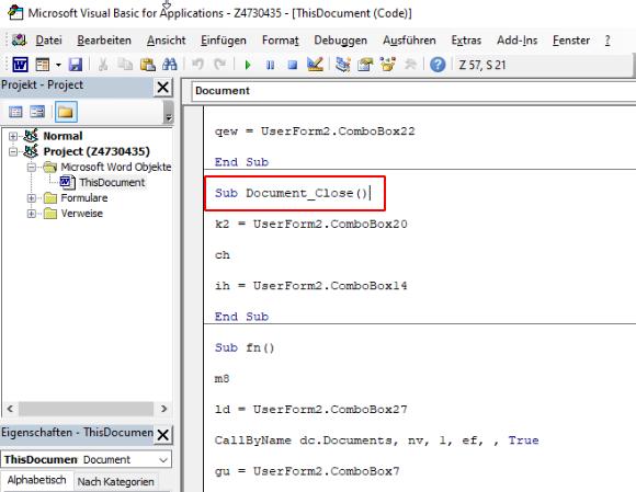 Zloader kev MHTML campaign MHTML document VBA macro document close
