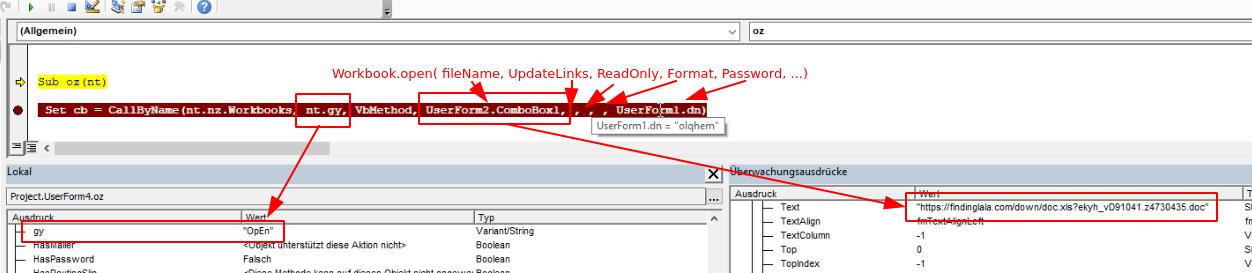 Zloader kev MHTML campaign MHTML document VBA macro userforms