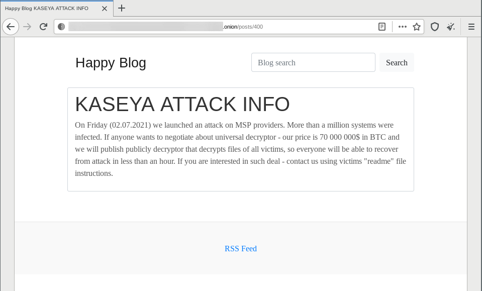 REvil ransomware leak-site