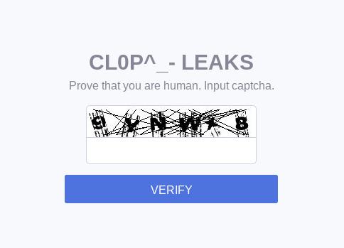 Cl0p CAPTCHA